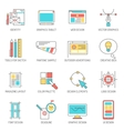 Designer Icons Line Set vector image