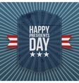 Happy Presidents Day big american Poster Template vector image