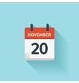 November 20 flat daily calendar icon vector image