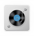 detailed icon of the retro vinil record player vector image