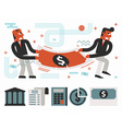 Fight Over Money vector image