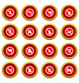 No insect sign icon red circle set vector image