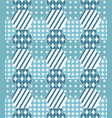 pattern of patchwork quilt background vector image