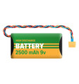 powerful charging battery isolated vector image