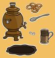 Russian tea ceremony vector image