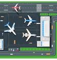 Terminal Aircraft vector image