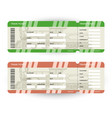 train tickets travel concept isolated on white vector image