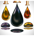 Large drops of oil dripping vector image vector image
