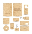 Set of abstract business cards template empty vector image