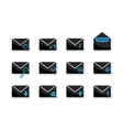 Set of email icons vector image