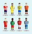 Soccer Club Team Players Set vector image