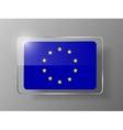 European Union Flag Glossy Button vector image vector image