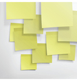 yellow sticky notes background vector image vector image