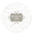 Vintage Poster - Breakfast vector image