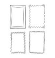 black and white outlined frames set vector image