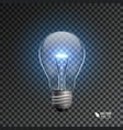 bulb on transparent background vector image