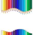 color pencils wave vector image