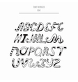 decorated english alphabet from a to z in vector image