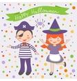 Happy Halloween kids couple vector image