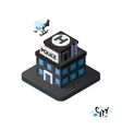 Isometric police station icon building city vector image