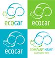 Logo ecologic car icon vector image
