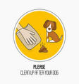 prohibition sign please clean up after your dog vector image