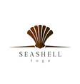 Sea shell logo vector image