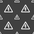 voltage icon sign Seamless pattern on a gray vector image