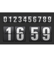 Plastic digits set vector image