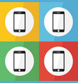 touch screen smart phone icon flat design vector image