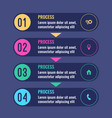 process business infographic chart with steps vector image