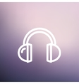 Headphone thin line icon vector image