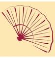 Sketched folding fan vector image