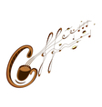 coffee and music lettering vector image