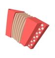Red retro accordion cartoon icon vector image