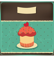 Cake vintage vector image vector image