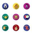 Arab Emirates set icons in flat style Big vector image
