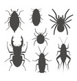 beetle silhouette vector image
