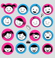 cute kids icons set vector image