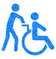 disabled person transportation grunge icon vector image
