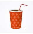 Drinking Straw and Red Cup vector image