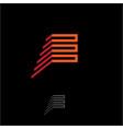 e logo monogram vector image