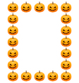 Halloween photo frame vector image