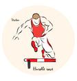Hurdle race vector image