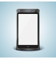Modern cell phone with white screen vector image