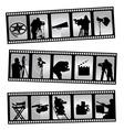 Movie filmstrip vector image