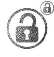 Padlock open lock simple single color icon vector image