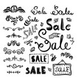 sale lettering set vector image