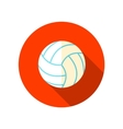 Volleyball flat icon with long shadow vector image