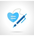 Write a Valentines greeting flat icon vector image
